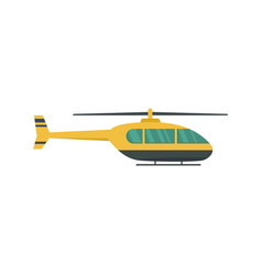 Utility helicopter icon flat style vector