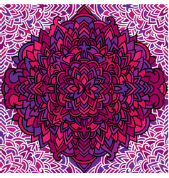 Violet seamless pattern mandala background vector