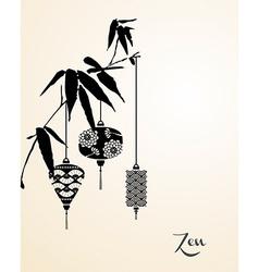 Zen elements background vector image