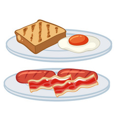 Breakfast with egg and bacons vector