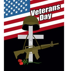 Day of remembrance for war veterans Veterans Day vector image vector image