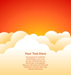 Evening sky background vector image
