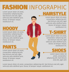 fashion infographic with happy student vector image vector image