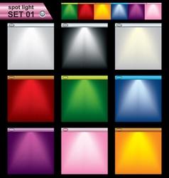 light frame set vector image