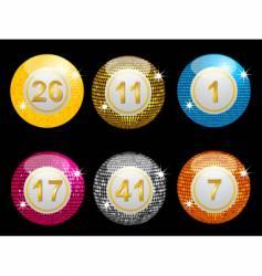 lottery disco balls vector image