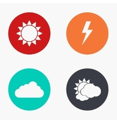 modern weather colorful icons set vector image vector image
