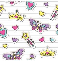 princess pattern vector image vector image