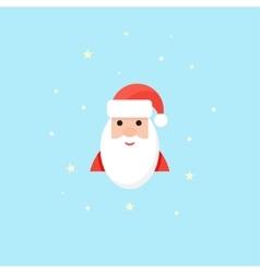 Santa Icon in flat style Christmas symbol vector image