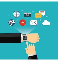 smart watch concept flat design vector image vector image