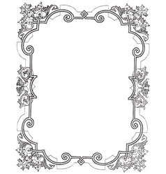 Vine Frame vector image vector image