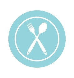 Background with Forks Spoons vector image