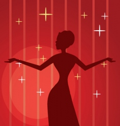 diva background vector image vector image