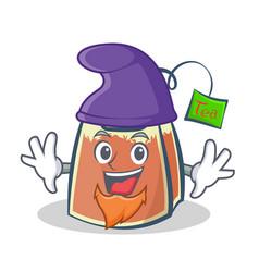 elf tea bag character cartoon vector image