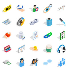 physician icons set isometric style vector image vector image