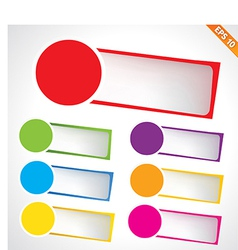 Tag template - - EPS10 vector image vector image