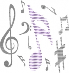 text music note vector image