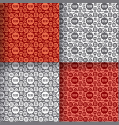 advertising seamless patterns vector image vector image