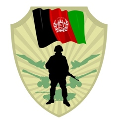 Army of Afghanistan vector image vector image