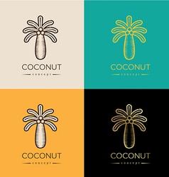 coconut logo or symbol vector image vector image