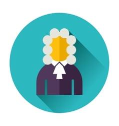 judge icon vector image