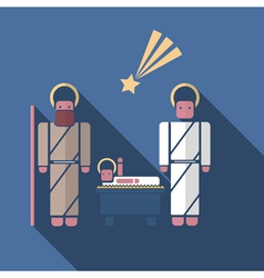 nativity scenein modern flat style vector image
