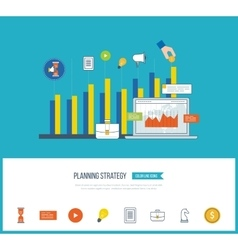 Planning strategy concept Investment growth vector image vector image