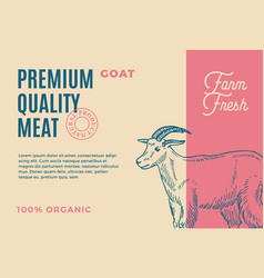 premium quality goat abstract meat vector image vector image