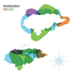 Abstract color map of Honduras vector image vector image