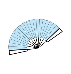 hand fan isolated graphic vector image vector image