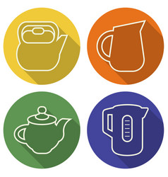 kitchen utensils and cookware line art design vector image
