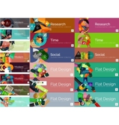 Mega collection of flat web infographic concepts vector image