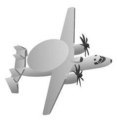 military early warning radar aircraft vector image vector image