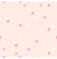 Pastel polka dots on pink background tile pattern vector image vector image