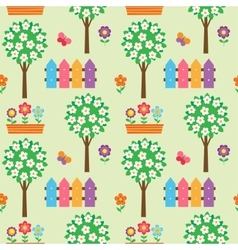 Seamless pattern with blooming vector image
