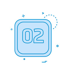 2 date calender icon design vector