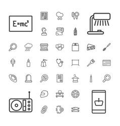 37 single icons vector