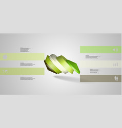 3d infographic template with round vector