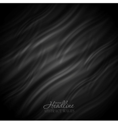 Abstract black wavy pattern design vector image