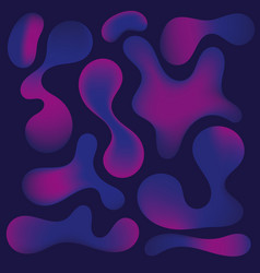 abstract neon bubble shapes on dark blue vector image
