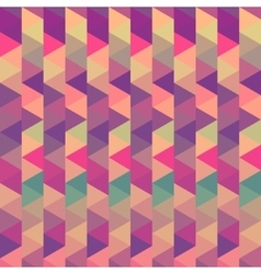 background triangle geometric vintage color vector image
