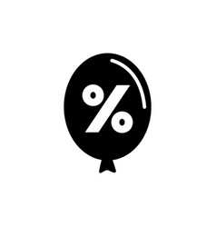 balloon discount flat icon vector image
