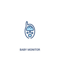 Bamonitor concept 2 colored icon simple line vector