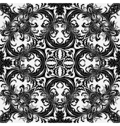 Baroque style floral wallpaper Seamless vector image