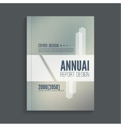 Brochure annual report vector image