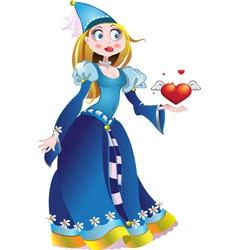 Charming princess vector