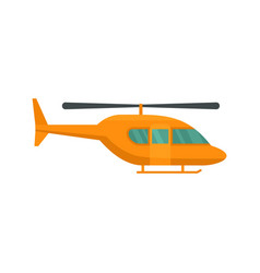 City helicopter icon flat style vector