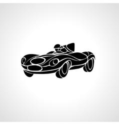 Classic car silhouette retro hot rod vector image