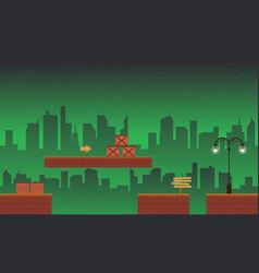 Collection style building game background vector