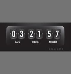 Coutdown sale timer flip board with scoreboard vector