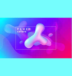 creative fluid shapes composition wallpaper vector image